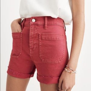 Madewell High-Rise Denim Shorts: Garment-Dyed